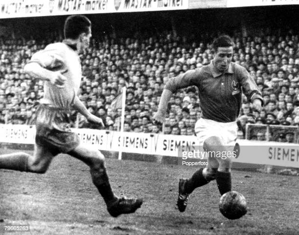 Football, 4th December 1961, A recent action picture of French International footballer centre-forward Raymond Kopa