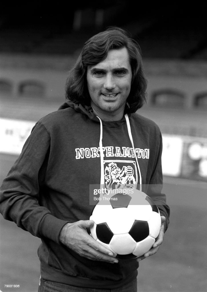 Football. 1976. A picture of former Manchester United legend George Best wearing a Northampton Town FC tracksuit. : News Photo