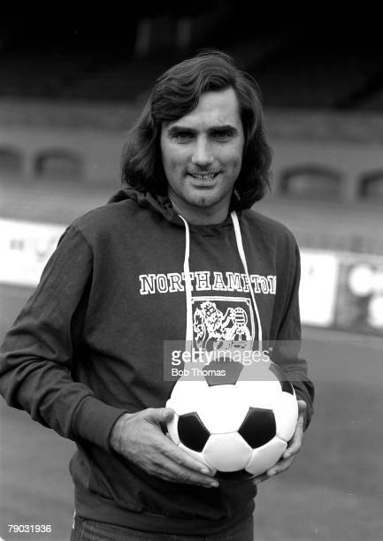 Football A picture of former Manchester United legend George Best wearing a Northampton Town FC tracksuit