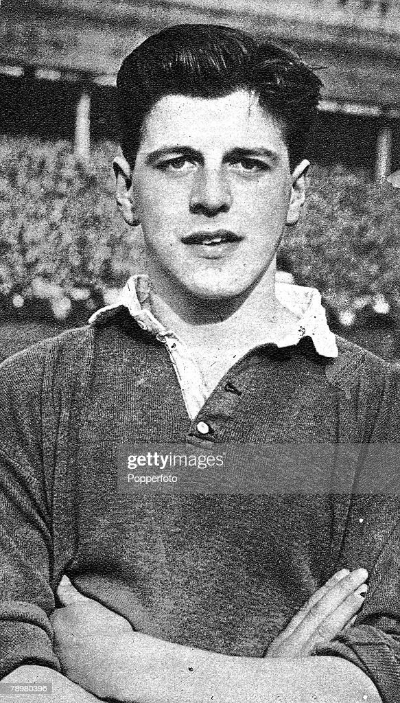 Football, 1958, A portrait of Glasgow Rangers and Scotland International full-back Eric Caldow