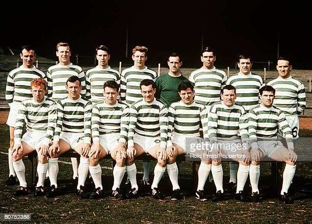 Football A team group picture of Glasgow Celtic FC, who went on to win the European Cup against Inter Milan, The Picture shows Back row; Willie...