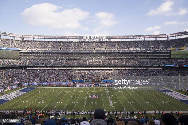 Aerial view of New York Giants in action vs Dallas Cowboys at MetLife Stadium East Rutherford NJ CREDIT Erick W Rasco