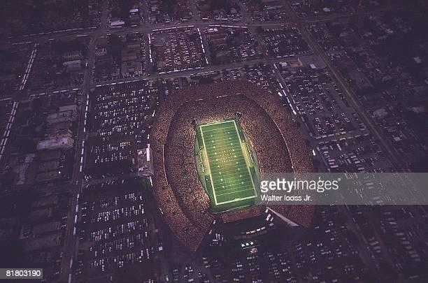 Football Aerial view of Orange Bowl stadium during Miami Dolphins vs Kansas City Chiefs game Miami FL 9/22/1985