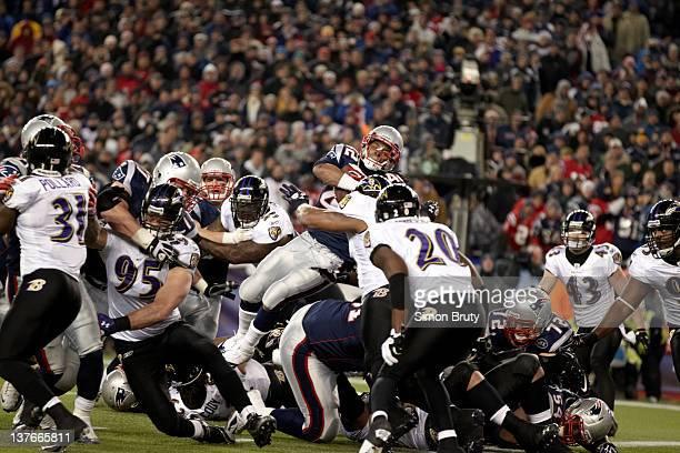 AFC Championship New England Patriots BenJarvus GreenEllis in action vs Baltimore Ravens at Gillette Stadium Foxborough MA CREDIT Simon Bruty