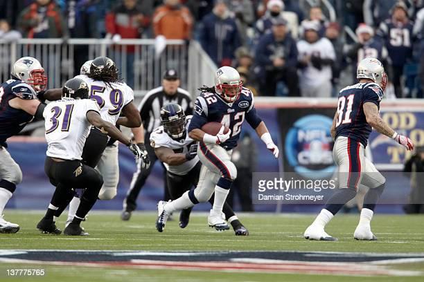 AFC Championship New England Patriots BenJarvus GreenEllis in action vs Baltimore Ravens at Gillette Stadium Foxborough MA CREDIT Damian Strohmeyer
