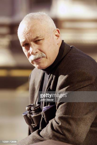 AFC Championship Portrait of Sports Illustrated via Getty Images staff writer Paul Zimmerman also known as Dr Z posing before Oakland Raiders vs...