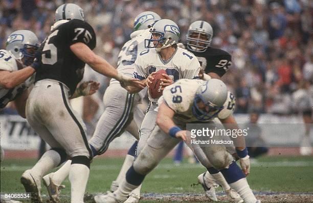 AFC Championship Seattle Seahawks QB Jim Zorn in action vs Los Angeles Raiders Los Angeles CA 1/8/1984 CREDIT Richard Mackson