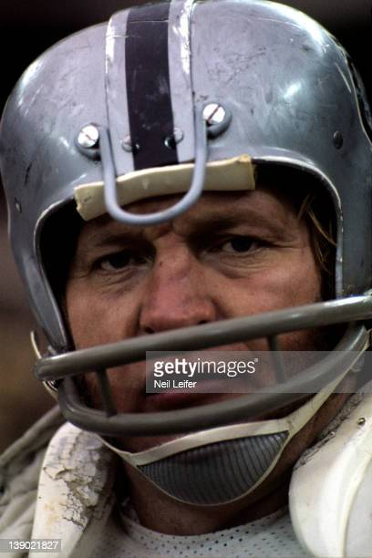 AFC Playoffs Closeup of Oakland Raiders Jim Otto during game vs Pittsburgh Steelers at Three Rivers Stadium Pittsburgh PA CREDIT Neil Leifer