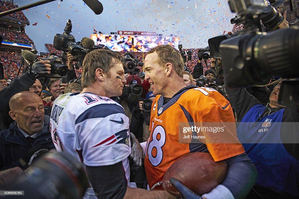 Denver Broncos QB Peyton Manning and New England Patriots QB Tom ... d967ee936
