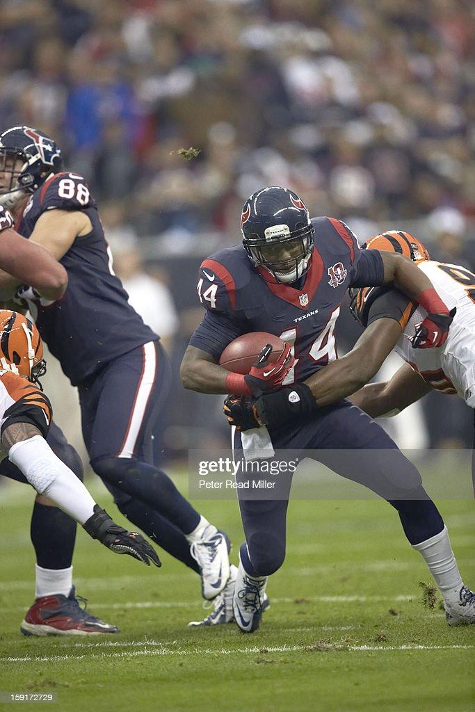 Houston Texans Ben Tate (44) in action, rushing vs Cincinnati Bengals at Reliant Stadium. Peter Read Miller F89 )