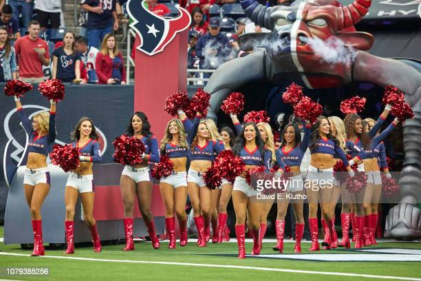 AFC Playoffs Houston Texans cheerleaders taking field before game vs Indianapolis Colts at NRG Stadium Houston TX CREDIT David E Klutho