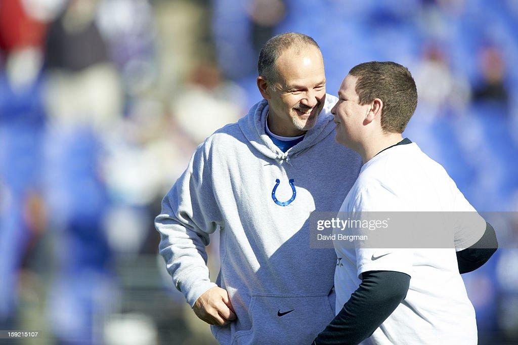 Indianapolis Colts coach Chuck Pagano before game vs Baltimore Ravens at M&T Bank Stadium. David Bergman F65 )