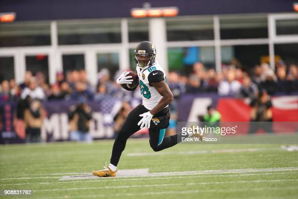 AFC Playoffs Jacksonville Jaguars Allen Hurns in action vs New England Patriots at Gillette Stadium Foxborough MA CREDIT Erick W Rasco