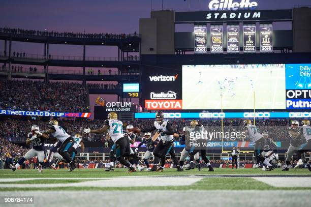 AFC Playoffs Jacksonville Jaguars QB Blake Bortles in action vs New England Patriots at Gillette Stadium Foxborough MA CREDIT Fred Vuich