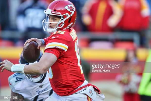 Playoffs: Kansas City Chiefs QB Patrick Mahomes in action vs Tennessee Titans at Arrowhead Stadium. Kansas City, MO 1/19/2020 CREDIT: David E. Klutho