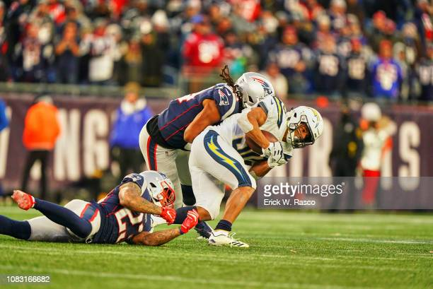 AFC Playoffs Los Angeles Chargers Austin Ekeler in action rushing vs New England Patriots at Gillette Stadium Foxborough MA CREDIT Erick W Rasco