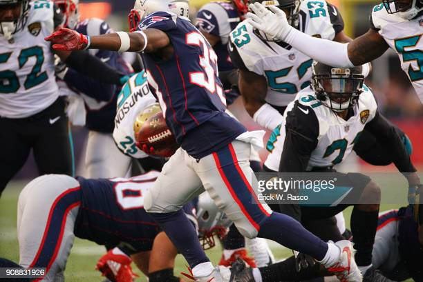 AFC Playoffs New England Patriots Dion Lewis in action rushing vs Jacksonville Jaguars at Gillette Stadium Foxborough MA CREDIT Erick W Rasco