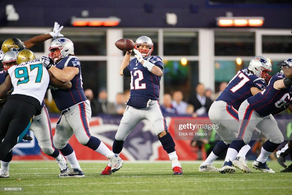 New England Patriots vs Jacksonville Jaguars, 2018 AFC Chcampionship : News Photo