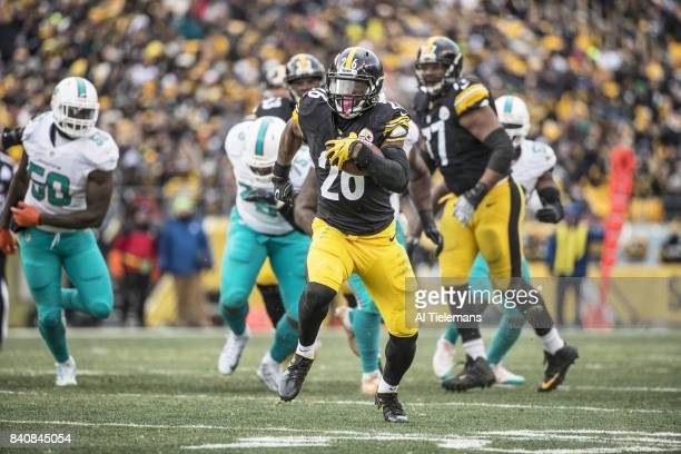 AFC Playoffs Pittsburgh Steelers Le'Veon Bell in action rushing vs Miami Dolphins at Heinz Field Bell eventually brought down on the 1yard line...