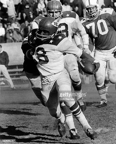 AFL AllStar Game Team West Abner Haynes of the Kansas City Chiefs in action rushing vs East at Balboa Stadium San Diego CA CREDIT Dick Raphael