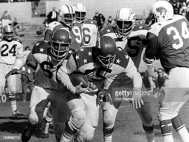AFL AllStar Game Team West Dave Grayson of the Kansas City Chiefs in action recovering fumble vs East at Balboa Stadium San Diego CA CREDIT Dick...