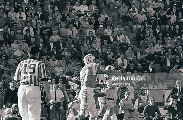 Football AFL Championship San Diego Chargers QB John Hadl in action making pass vs Buffalo Bills San Diego CA