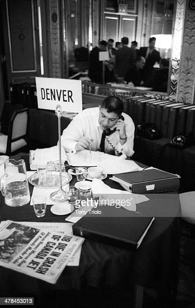 AFL Draft Denver Broncos coach and general manager Jack Faulkner during draft meeting New York NY CREDIT Tony Triolo