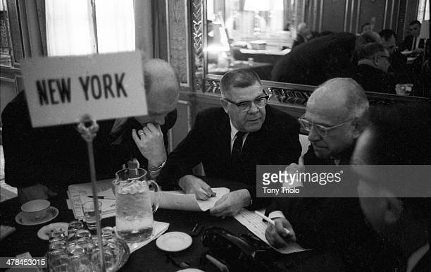 AFL Draft New York Jets coach Weeb Eubank with owner Sonny Werblin during draft meeting New York NY CREDIT Tony Triolo