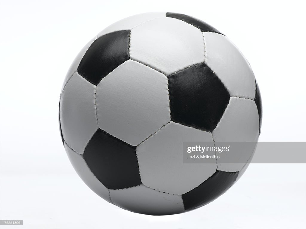 Football against white background, close-up : Stock Photo