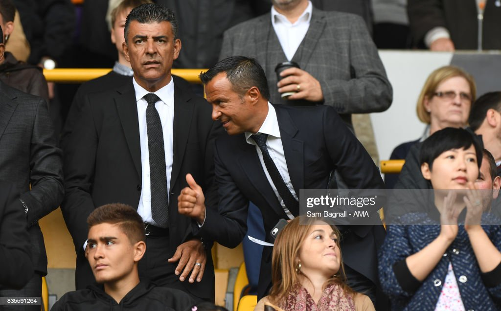 Football agent Jorge Mendes of GestiFute company attends the game during the Sky Bet Championship match between Wolverhampton and Cardiff City at Molineux on August 19, 2017 in Wolverhampton, England.