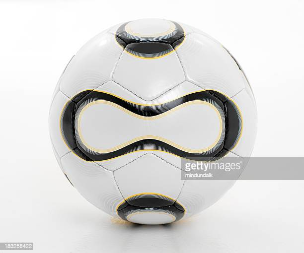 football aka soccer ball isolated against white background - sports ball stock pictures, royalty-free photos & images