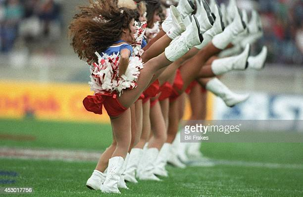 American Bowl Buffalo Bills cheerleaders in action during game vs Minnesota Vikings at Olympiastadion Berlin Germany 8/7/1993 CREDIT Bill Frakes