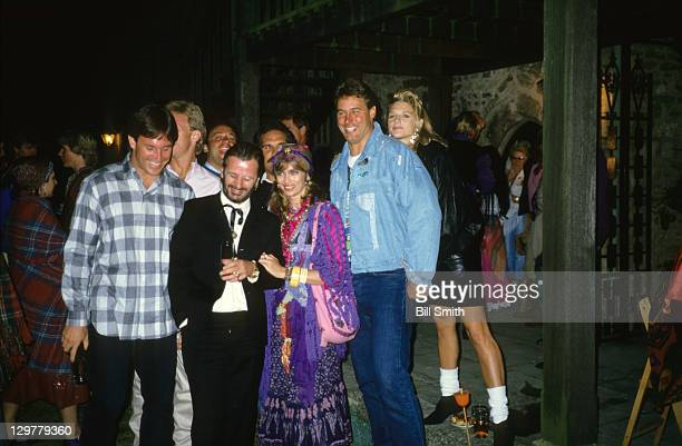 American Bowl Celebrity musician Ringo Starr formerly of The Beatles and wife Barbara Bach with Chicago Bears players Gary Fencik and Keith Van Horne...