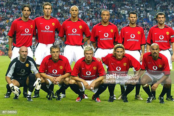 Football Amsterdam PreSeason Tournament Amsterdam Holland 2nd August 2002 Ajax Amsterdam 2 v Manchester United 1 The Manchester United team pose for...