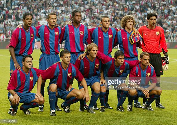 Football Amsterdam PreSeason Tournament Amsterdam Holland 4th August 2002 Ajax Amsterdam 4 v Barcelona 3 The Barcelona team line up before the match...