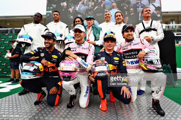 Football and F1 stars including Louis Saha Dida Christian Karembeu Sir Jackie Stewart Francesco Toldo Michel Salgado David Coulthard Daniel Ricciardo...