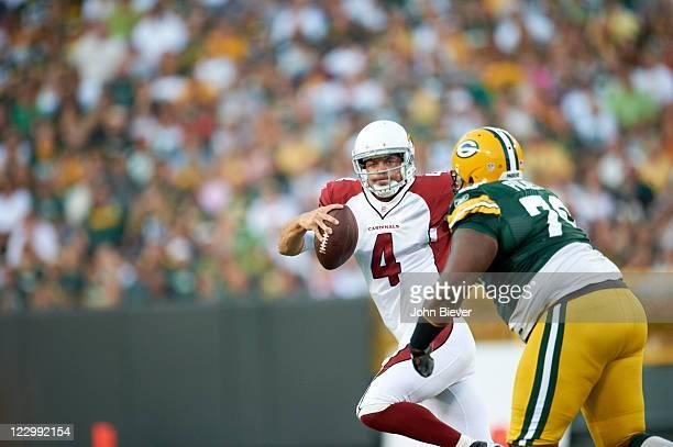 Arizona Cardinals QB Kevin Kolb in action vs Green Bay Packers Ryan Pickett during preseason game at Lambeau Field. Green Bay, WI 8/19/2011 CREDIT:...