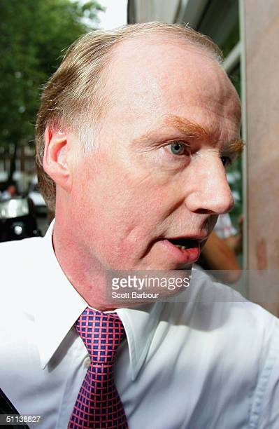 Football Association acting Chief Executive David Davies arrives at the Football Association headquarters on August 3 2004 in London England The...