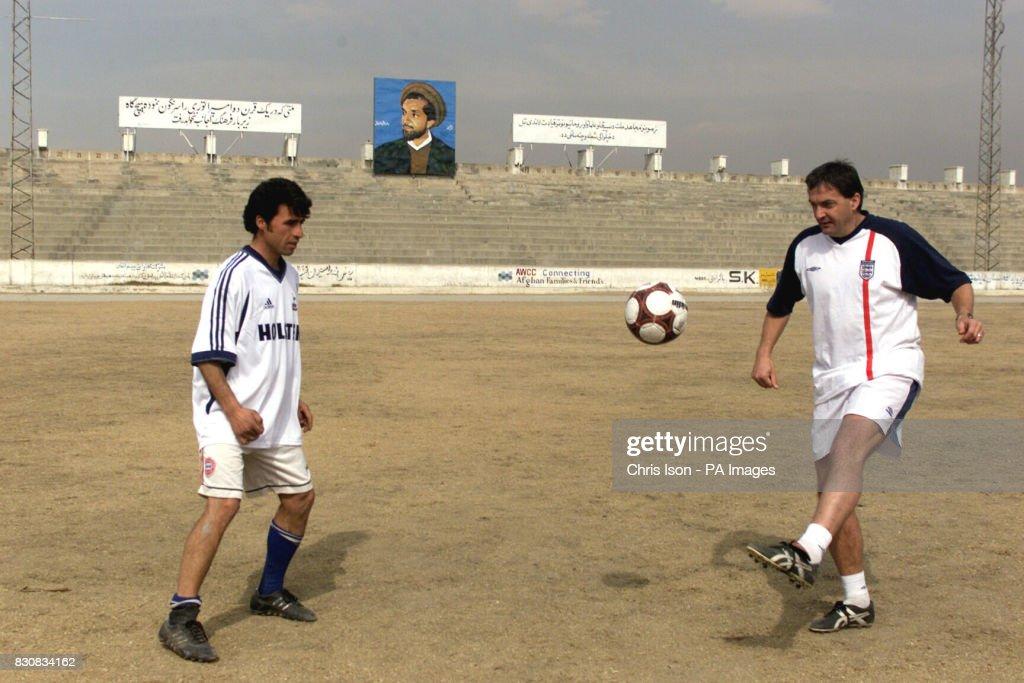 ISAF V Kabul FC Gary Mabbutt : News Photo