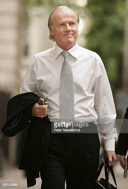 Football Association Chief David Davies arrives at the Central London Employment Tribunal June 24 2005 in London England 38 year old FA secretary...