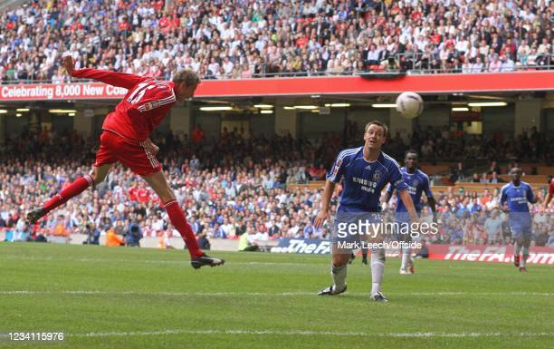 Football Association Community Shield, Liverpool v Chelsea, John Terry of Chelsea watches as Peter Crouch of Liverpool scores their 2nd goal.