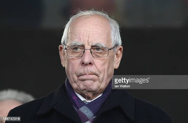 Football Association conucillor Peter Coates looks on during the Barclays Premier League match between Fulham and Stoke City at Craven Cottage on...