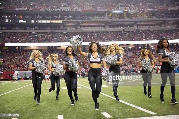 Atlanta Falcons cheerleaders on field during game vs Green Bay Packers at Georgia Dome Atlanta GA CREDIT Kevin Liles