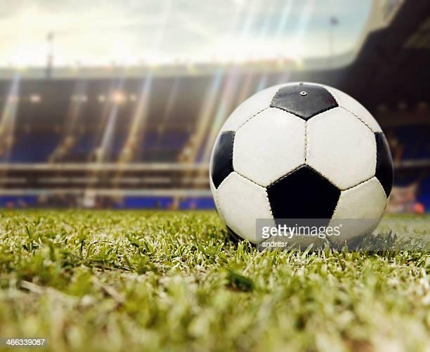 Fußball ball im Stadion