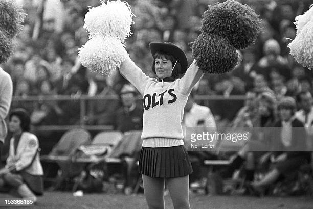 Baltimore Colts cheerleader before game vs San Francisco 49ers at Memorial Stadium Baltimore MD CREDIT Neil Leifer