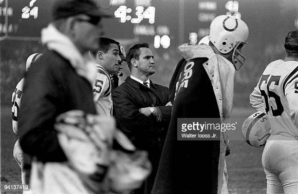 Baltimore Colts coach Don Shula on sidelines during game vs Washington Redskins Baltimore MD CREDIT Walter Iooss Jr