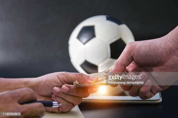 football betting,football gambling - スポーツ・ベッティング ストックフォトと画像