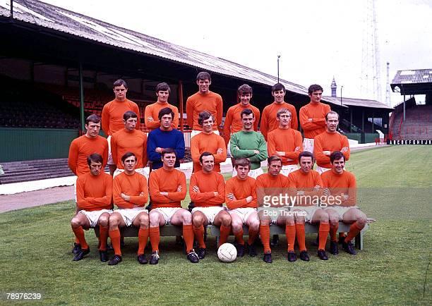 Football Blackpool FC 1969/70 Captioned left to right back row Tony Marsden Henry Mowbray Graham Rowe Johnny Johnston Ronnie Brown Middle row Bill...