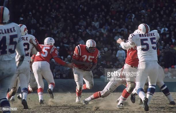 Boston Patriots Jim Nance in action rushing vs Buffalo Bills Boston MA 12/4/1966 CREDIT Herb Scharfman