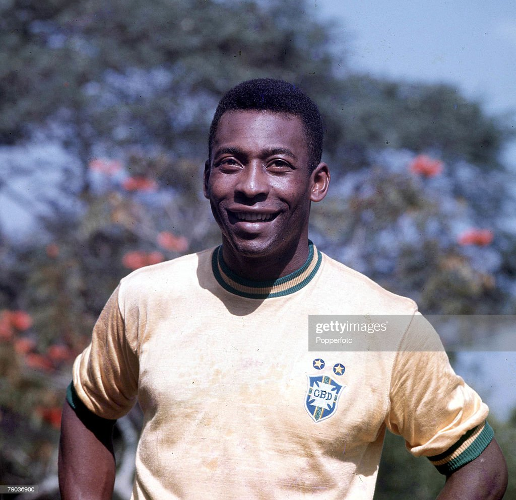 Football. Brazilian legend Pele, one of the stars of the victorious Brazil team of the 1970 World Cup Finals in Mexico . : News Photo